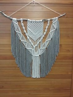 Extra Large Macrame Wall Hanging - Ready to post NOW! The Craft Bar is home to modern macrame boho wall hangings that are meant to bring texture and dimension to any wall or room in your house. Your piece is made by hand using natural unbleached cotton and wood branches left alone