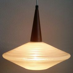 New! PHILIPS 50s - 60s Danish style glass pendant light