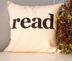 read stamp pillow.