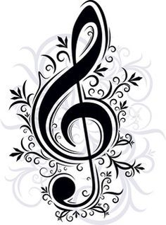 52 Ideas Music Note Crafts Diy Treble Clef For 2019 Trommel Tattoo, Music Drawings, Music Tattoos, Treble Clef, Arabesque, Music Notes, Pyrography, Music Stuff, Coloring Pages