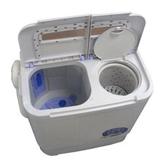 This portable Washing Machine with Spin Dryer is the perfect way to have clean clothes, without having to go to the dreaded laundry mat ;) #portablewasheranddryer #RVLife