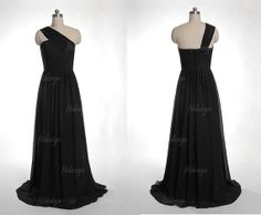 black bridesmaid dress long bridesmaid dress chiffon by fitdesign, $109.00