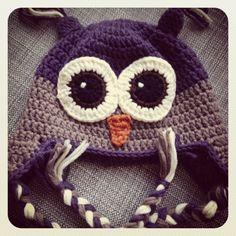 Owl hat Daan ~ made by VanSjoukje© ~ uil ~ muts ~ crochet