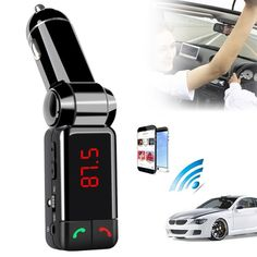 Cheapest Price $7.24, Buy Car MP3 Audio Player Bluetooth FM Transmitter Wireless FM Modulator Car Kit HandsFree LCD Display USB Charger For All Mobile