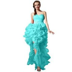Emma Y Fabulous Sweetheart Neckline Ruffles Homecoming Dresses Long- US Size 22W-Blue | Find.com #prom #gown #pageant