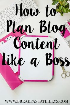 Never know where to begin when you sit down each month and try to plan out your content calendar? Today on Breakfast at Lilly's I am sharing 7 Tips for Like a Boss. The Plan, How To Plan, Wordpress For Beginners, Blogging For Beginners, Social Media Trends, Marketing Digital, Branding, Make Money Blogging, How To Make Money