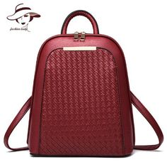 4f3a66ac1a16 2017 Vintage Casual New Style Backpack Leather High Quality Hotsale Women  Candy Clutch Ofertas Famous Designer Brand School Bags