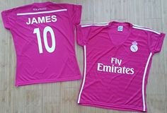 77fc6d55e Amazon.com   Real Madrid Away  10 James Adult Jerseys Size Sm