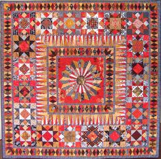 """""""Morning Star"""" by Chris Kenna, New Zealand Quilt Symposium 2009.  Seen at P and Q magazine (British Patchwork and Quilting)"""