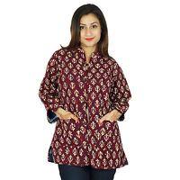 Ethnic Reversible Handmade Cotton Quilted Jacket Winter Warm Women Coat Blazer