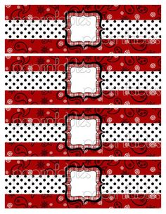 Bandana Western Theme Water Bottle Labels - DIY PARTY PRINTABLE - Bandana Rama Red Collection. $3.50, via Etsy.