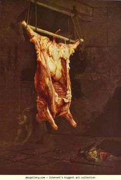 Rembrandt. The Slaughtered Ox. c. 1638. Oil on panel. Glasgow Museums and Art Galleries, Glasgow, UK