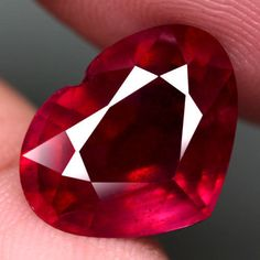 GORGEOUS! 8.40CT.HEART FACET TOP BLOOD RED NATURAL RUBY MADAGASCAR NR! #GEMNATURAL