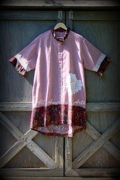 Reciclado rediseñado camisa de hombre por AllAmericanArts en Etsy