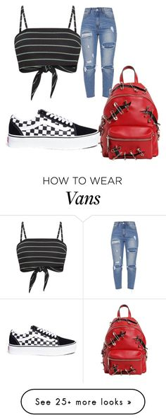"""""""Untitled #864"""" by daniela-silva-souza on Polyvore featuring Vans and Moschino"""