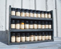 Spice Rack in 2 Tone Milk Paint Finish by TheGreenCoyote on Etsy Essential Oil Storage, Essential Oils, Old World Style, Milk Paint, Paint Finishes, Wine Rack, Solid Wood, I Shop, Spices