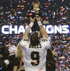"""drew brees doesn't walk on water.. but to the people around here, he comes pretty close"" who dat nation"