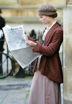 Behind the Scenes - Alicia Vikander (Vera Brittain) - Testament of Youth (2015) directed by James Kent