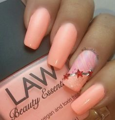 Law Beauty Essentials: ☆ A Lot of Spice ☆ ... a coral creme nail polish with accent nail art
