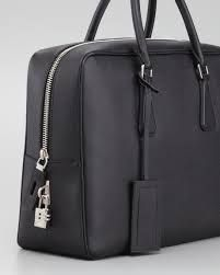 Lastest Prada Tessuto E Saffiano Laptop Bag  Bags  PRA52879  The RealReal