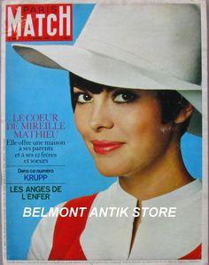 Paris Match N°940 1967 Mireille Mathieu LA Californie LES Anges DE L'Enfer | eBay
