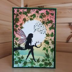 April Challenge – The Winner – Lavinia Stamps Retail Rubber Stamp Company, Lavinia Stamps Cards, April Challenge, Fairy Silhouette, Karten Diy, Mason Jar Gifts, Beautiful Handmade Cards, Tampons, Mail Art