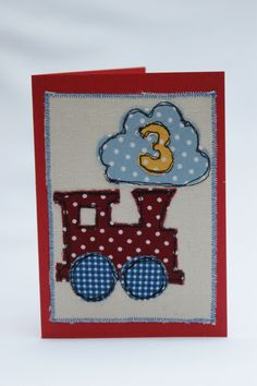 Birthday freehand embroidery
