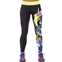 2016 Femmes Coloré 3D Imprimé Pantalons Leggings Stretch Fitness Crayon  Pantalon Capri Leggings 40ad3744cb6