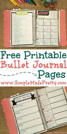 If you don't have a creative side but might want to try bullet journaling check out these free printable bullet journal pages. Bullet journal day planner free printable planner day planner pages get organized If you don't have a Bullet Journal Agenda, Bullet Journal Examples, Bullet Journal Printables, Bullet Journal Layout, Bullet Journal Inspiration, Bullet Journals, Bible Bullet Journaling, Journal Pages Printable, Journal Template