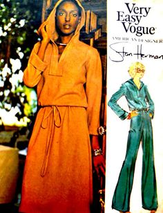 Very Easy Vogue 1169 Sewing Pattern by VintageNeedleFinds Pattern Grading, Vogue Patterns, Pull On Pants, Pattern Illustration, Skirt Pants, Vintage Sewing Patterns, Vintage 70s, First Photo, Size 12