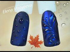 """Рисунки гель лаком: дизайн ногтей с Цветами. Нежный маникюр """"Магнолия"""" акварель гель лаками + стразы - YouTube"""