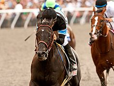 Shared Belief Streaks to Pacific Classic Win. Game on Dude dueled fast fractions with Mystery Train then had nothing left for the challenge. 8/24/14