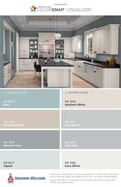 61 ideas exterior colors schemes apartment 61 ideas exterior colors schemes apartment You are in the right place about feng shui home decoration Here we offer you the most Kitchen Paint Colors, Bedroom Paint Colors, Paint Colors For Home, Living Room Colors, Kitchen Color Schemes, Kitchen Ideas Color, Paint Colours, Basement Color Schemes, Interior Paint Colors For Living Room