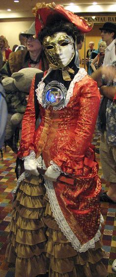 """Gorgeous costume from the """"Girl In The Fireplace"""" episode of Doctor Who."""