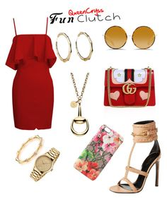 """""""Bae said I'm GUCCI*"""" by queencryss on Polyvore featuring Gucci and Matthew Williamson"""
