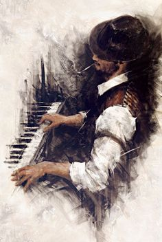 Blues in the Night, by Rémi LaBarre--is it just me, or does he have an 'oh yeah,' twinkle in his eye? - Pinterest  I often find myself sitting at the piano letting my fingers take me on the journey. With no real thought to the composition,playing music is, has been and will always be my escape.The one thing that take me away from outside struggles of life, gives me a sense of serenity and overall well being. A diminished conciseness of self.