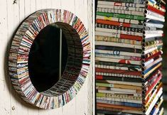 Recycled Newspaper Crafts | Recycled Magazine Art - Paper Coil Mirror (GALLERY)