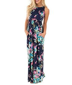 """HIKARE Women Casual Sleeveless Boho Floral Print Evening Party Spilt FloorLength Long Maxi Dress Size M Blue  Package Content: 1 x Women's Dress    Material: polyester?    Gender:  Womens,Ladies    Color: Pink, Bluee   """"  Size: S,M,L,XL    Style: Casual, Fashion    Size Details:    Tag Size S—Bust 33.07″~37.00″ —Waist 25.19″~29.13″ —Length 55.11″   Tag Size M —Bust 34.64″~38.58″ —Waist 26.37″~30.31″ —Length 55.70″   Tag Size L —Bust 36.22″~40.15″—Waist 27.55″~31.49″ —Length .."""