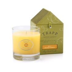 No 4 Orange Vanilla Trapp Candle | This is it! The perfect combination of crisp orange notes elevated by the exquisite addition of Tahitian vanilla.
