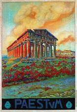 TV96 Vintage 1925 Italian Italy PAESTUM Campania Travel Poster A1/A2/A3/A4