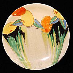 """Clarice Cliff 'Delicia Citrus'  8"""" Plate"""