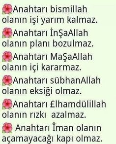 Anahtari.. Learn Turkish, Good Sentences, Believe In Miracles, Inside Job, Weird Dreams, Allah Quotes, Meaningful Words, Word Of God, Islamic Quotes