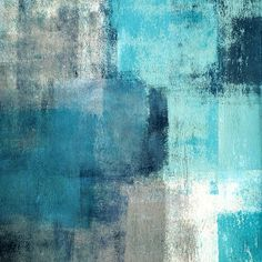 Selected - Modern teal and gray abstract painting , Canvas teal wall art - Wall Art Blue Painting, Painting Prints, Art Prints, Art Paintings, Painting Canvas, Canvas Prints, Framed Prints, Modern Paintings, Abstract Paintings