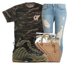 """""""Of """" by lit-lauryn ❤ liked on Polyvore featuring Frame Denim, Ray-Ban and NIKE"""