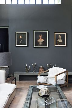 A mix of old and new in this romantic home in Johannesburg, South Africa – as seen in House and Leisure Dark Living Rooms, Home Decor Styles, Interior, Living Room Decor, Home Decor, House Interior, Dark Interiors, Boho Interior, Interior Design