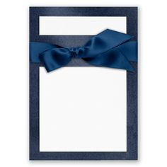 Create the perfect announcement to your special day with our Treasured Gems blank DIY invitation kit! The backer card holds a card that you print with your wording. Tie it all together with an elegant satin ribbon in a David's Bridal exclusive color. Shown here in Sapphire. #davidsbridal #invitations #DIY #weddings