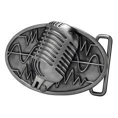 74a7de218a49 Buy Buckle Rage Adult Unisex Retro Vintage Microphone Sound Wave Belt Buckle  - Topvintagestyle.com ✓ FREE DELIVERY possible on eligible purchases