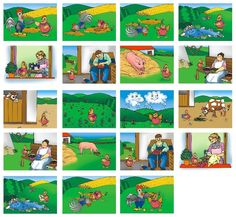 O slepičce a kohoutkovi Sequencing Pictures, Story Sequencing, Story Tale, Speech Therapy, Worksheets, Activities For Kids, Preschool, Classroom, Kids Rugs