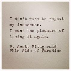 F Scott Fitzgerald...hmm. I like this. @kyleehaluska