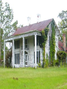 Huge Porch Post On This Old Farm House